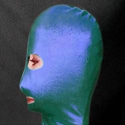 РАСПРОДАЖА! Зеленая/синяя маска из винила