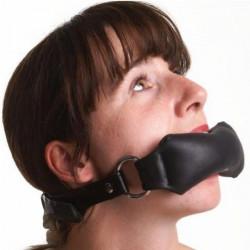 Черный кляп для рта в форме подушечки