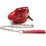 Фото Красный кляп с цепью Кляпы