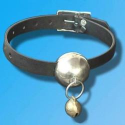 Шкіряний кляп з металевим кулькою
