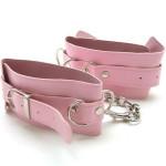Фото Двойные розовые кожаные наножники