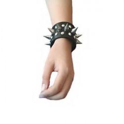 Кожаные шипованые наручники, пара 2 шт