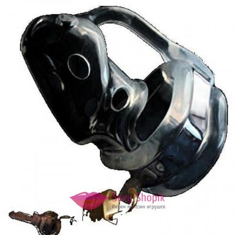 Фото Черное устройство целомудрия черного цвета Пояса верности (М)