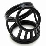 Фото Черное тройное кольцо фиксатор на пенис Фиксаторы на пенис