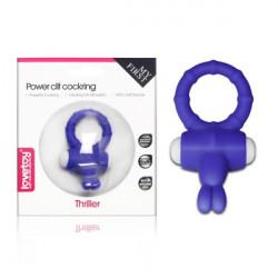 Ерекційне кільце зі стимулятором клітора Power Clit Cockring Thriller