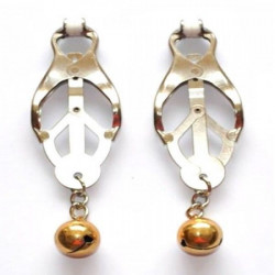 Елегантні золотисті сережки
