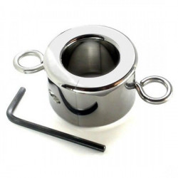 Металлическое кольцо на мошонку (3 вида) Large Ball Stretcher Weight for CBT
