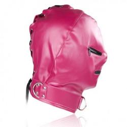 Розовая маска Zipper из винилу