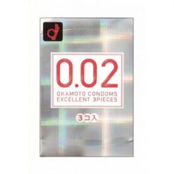 Супер тонкі презервативи Окамото 0.02 мм, 3 шт
