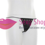 Фото Сексуальные кожаные стринги Одежда, белье БДСМ