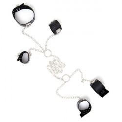 Комплект для фіксації з нашийника, наручників і поножей на ланцюжку