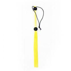 Небольшая резиновая  плеть желтая