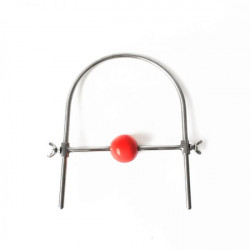 Stainless Steel Ring Silicone Ball Gags Red