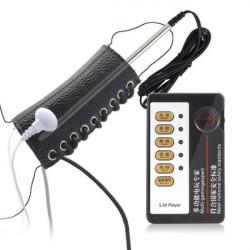 Electro-sex PU Ring + Metal Penis Plug