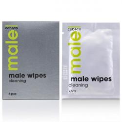 Очищаючі серветки для чоловіків MALE Cobeco Wipes Cleaning (6x2,5ml)