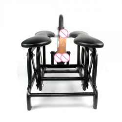 Strong Metal frame telescopic distance sex machine chair sex furniture with one free dildo-Flying Bird