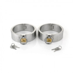 Female Ellipse Stainless Steel Heavy Duty Ankle Restraints Oval Shaped with Brass Lock Joints
