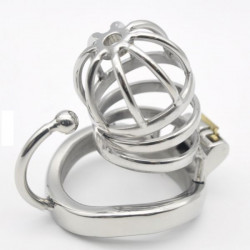 Stainless Steel Male Chastity Cage with Base Arc Ring Devices