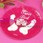 Фото Super Dick Forever Bachelorette Paper Plates(Pack of 6)