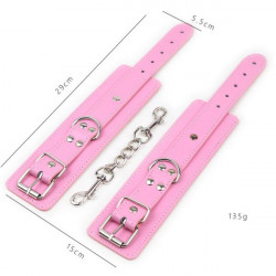 Pink red multi-studded shackles