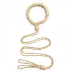 new braided rope collar with long hauling rope Yellow