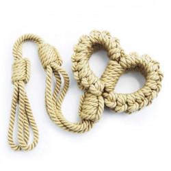 new braided rope handcuffs Yellow